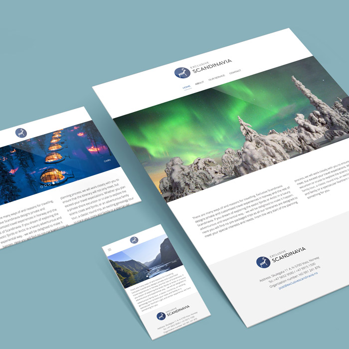 Exclusive Scandinavia - Webdesign